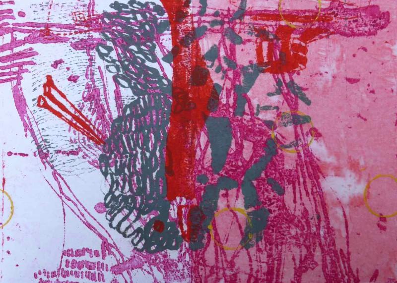 O.T. 30x40 Siebdruck und Lithografie auf Bütten