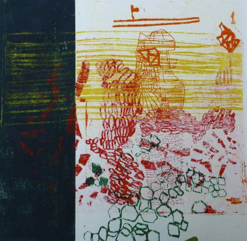 O.T. 40 x 40 Siebdruck und Lithografie auf Bütten