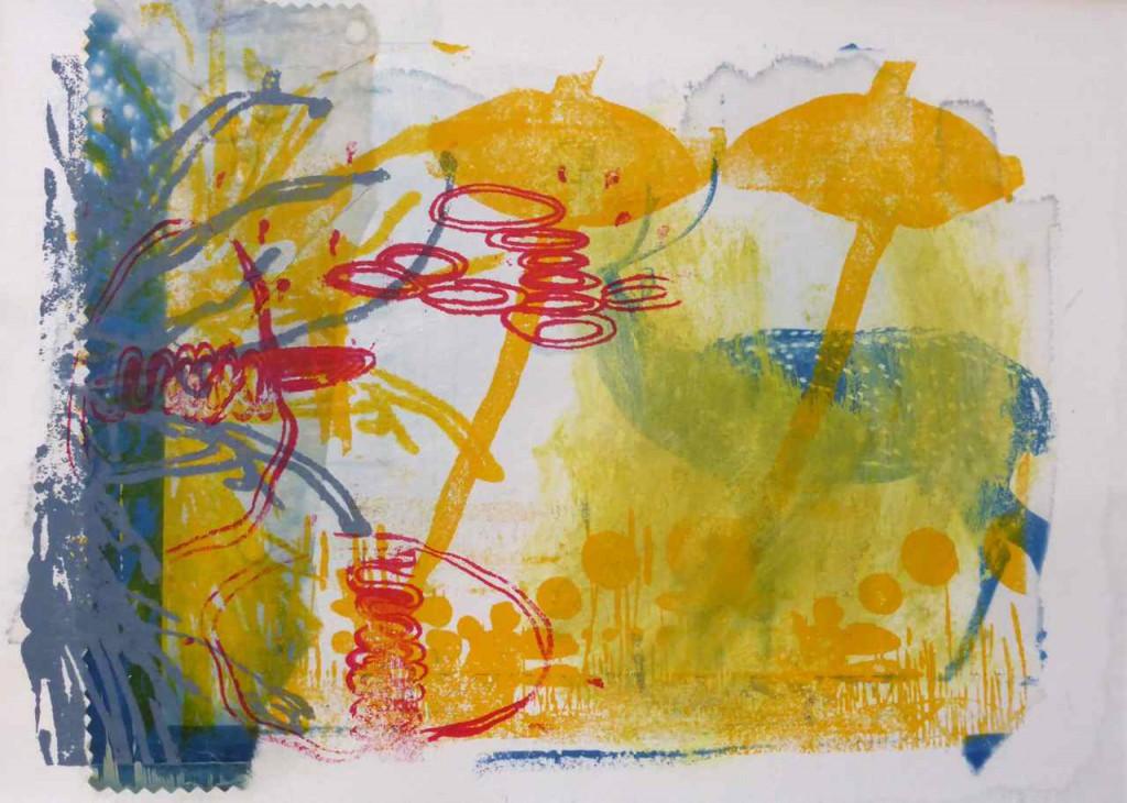 Serie Hirsch 50x40 Lithografie und Siebdruck auf Bütten