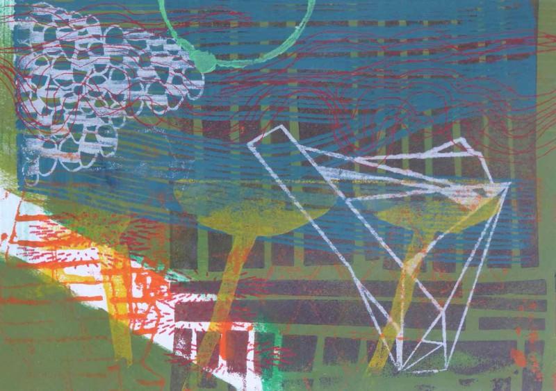 O.T. 40x50 Siebdruck und Lithografie auf Bütten